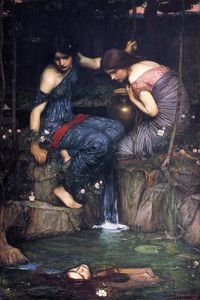 John William Waterhouse - Nymphes Trouver la tête d Orphée