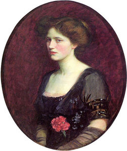 John William Waterhouse - portrait de mme . charles schreiber