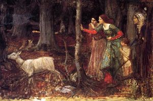 John William Waterhouse - le mystic bois