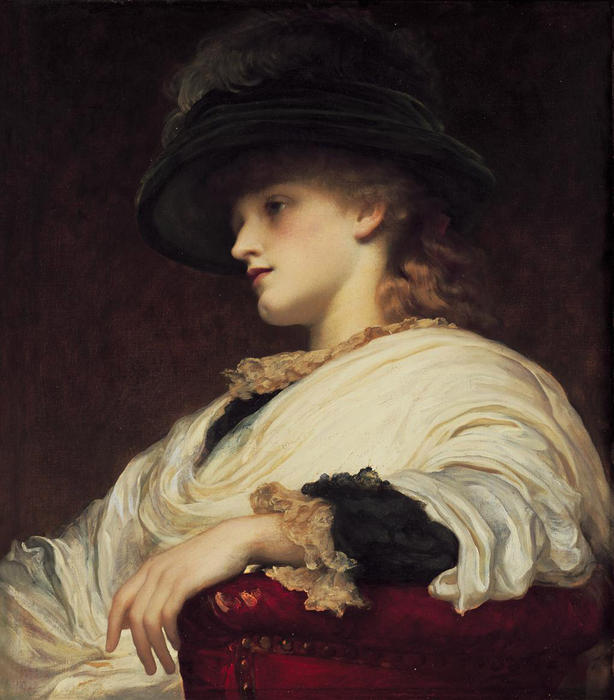 Phoebe de Lord Frederic Leighton (1830-1896, United Kingdom) | Reproductions D'art De Musée Lord Frederic Leighton | WahooArt.com
