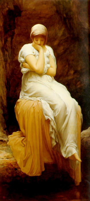 solitude de Lord Frederic Leighton (1830-1896, United Kingdom) | Reproductions D'art De Musée Lord Frederic Leighton | WahooArt.com