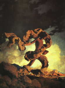 Maxfield Parrish - Cadmus Semer les dents du dragon