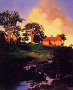Maxfield Parrish - chasse ferme