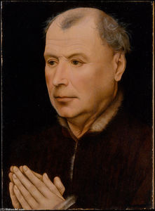 Robert Campin (Master Of Flemalle) - homme la prière