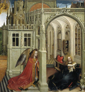 Robert Campin (Master Of Flemalle) - le annonciation