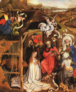 Robert Campin (Master Of Flemalle) - le nativité