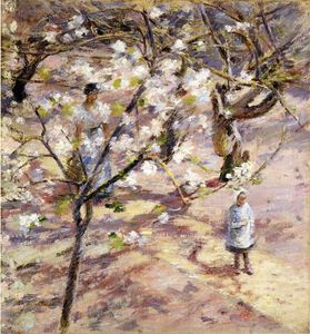 Theodore Robinson - Blossoms à Giverny
