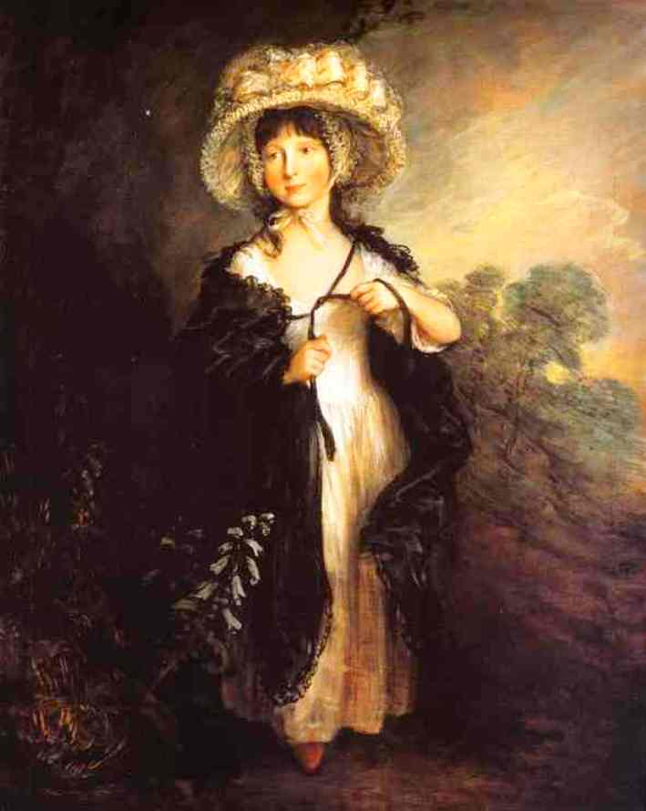 Achat Reproductions D'art | Mlle Haverfield, 1782 de Thomas Gainsborough (1727-1788, United Kingdom) | WahooArt.com