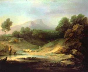 Thomas Gainsborough - Paysage de montagne avec Shepherd