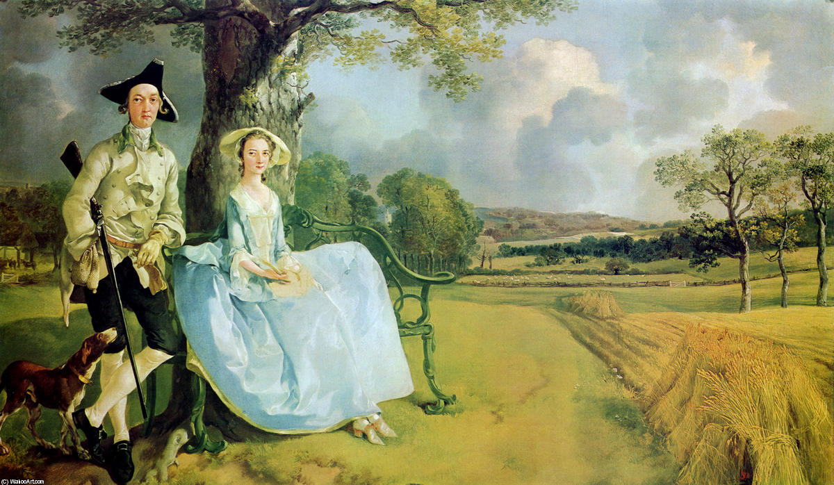 Achat Reproductions De Peintures | Monsieur . et mme . Andrews, 1749 de Thomas Gainsborough (1727-1788, United Kingdom) | WahooArt.com