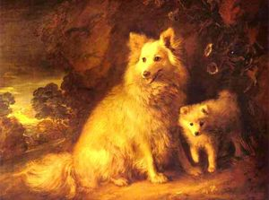 Thomas Gainsborough - Chienne de Poméranie et Pup