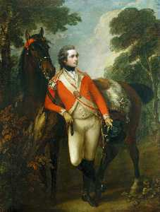 Thomas Gainsborough - portrait de john hayes st . Leger