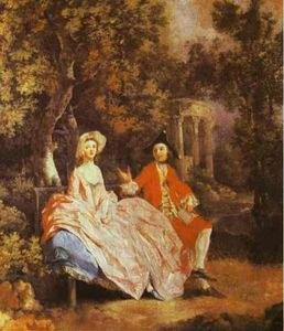 Thomas Gainsborough - Self-Portrait with sa femme , Margaret ( probablement )