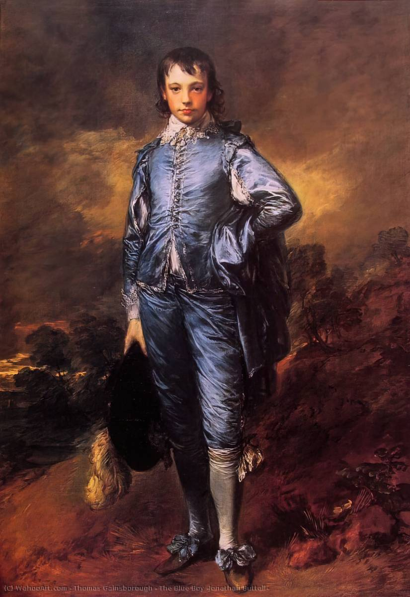 le boy blue ( jonathan buttall ) de Thomas Gainsborough (1727-1788, United Kingdom) | Reproductions D'art Thomas Gainsborough | WahooArt.com