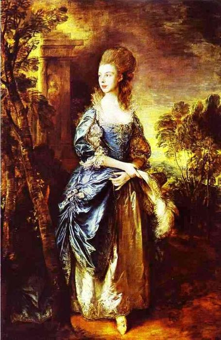 L hon. Frances Duncombe, 1778 de Thomas Gainsborough (1727-1788, United Kingdom) | Reproductions D'œuvres D'art Thomas Gainsborough | WahooArt.com