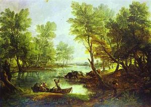 Thomas Gainsborough - Vue d King-s Bromley-on-Trent , Staffordshire