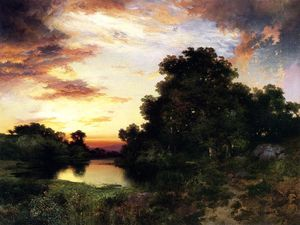 Thomas Moran - Sunset sur Long Île 1