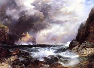 Thomas Moran - Tantallon Castle, North Berwick, en Écosse