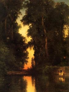 Thomas Moran - La Borda Gardens Mexique