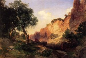 Thomas Moran - le grand Canyon - Hance Trail