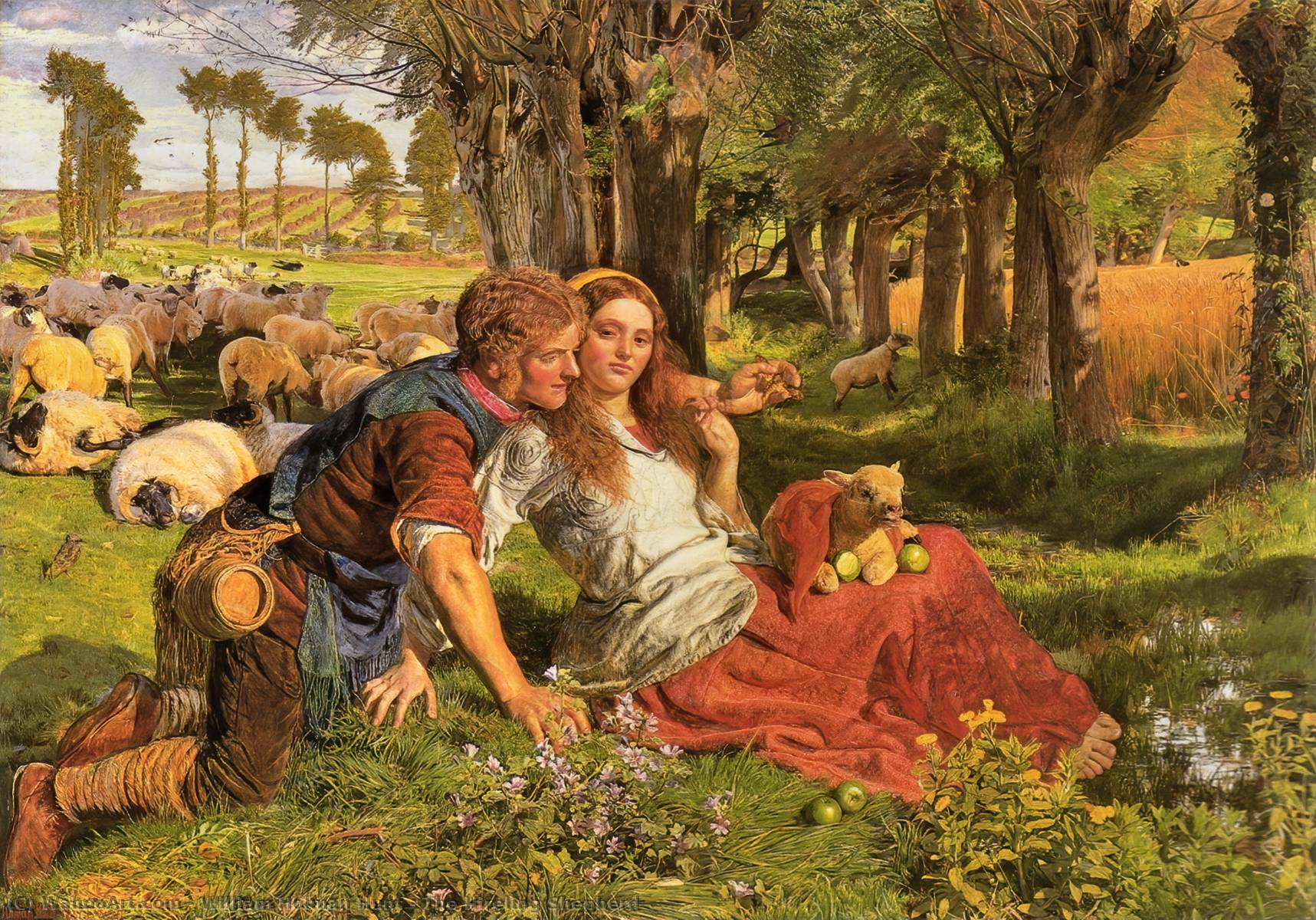 Le mercenaire Shepherd, huile sur toile de William Holman Hunt (1827-1910, United Kingdom)