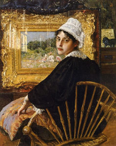 William Merritt Chase - un étude alias  la  épouse de l artiste