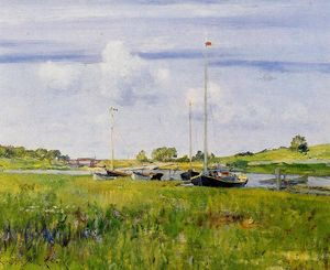 William Merritt Chase - Au Landing Boat
