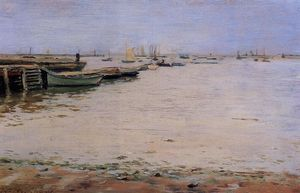 William Merritt Chase - Gowanus Bay aka Misty Jour, Gowanus Bay