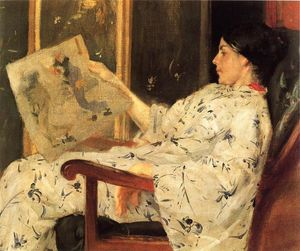 William Merritt Chase - Japonaise Imprimer