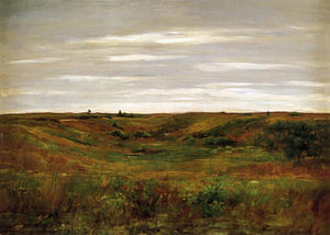 William Merritt Chase - Paysage - Une Shinnecock Vallée