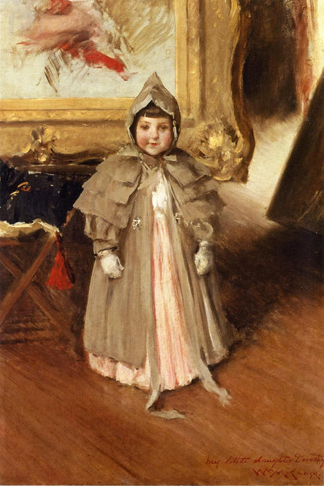 Ma petite fille Dorothy, 1894 de William Merritt Chase (1849-1916, United States) | Reproductions D'art William Merritt Chase | WahooArt.com