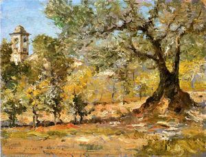 William Merritt Chase - olive arbres , Florence