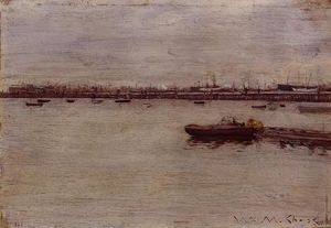 William Merritt Chase - docks de réparation , Gowanus Jetée