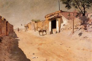 William Merritt Chase - espagnol village