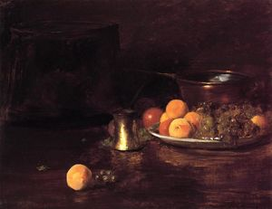 William Merritt Chase - Nature Morte -   fruits