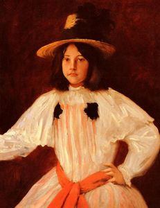 William Merritt Chase - Le Red Sash