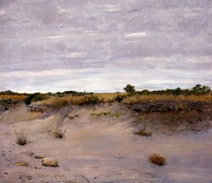 William Merritt Chase - vent sands swept , Shinnecock , long île
