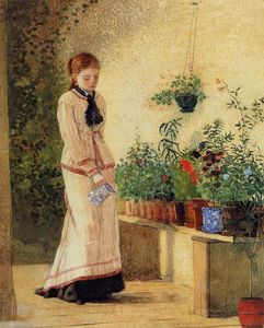 Winslow Homer - Plantes Fille arrosage