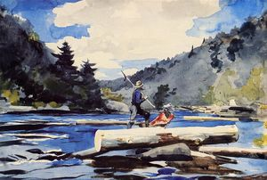 Winslow Homer - Hudson River, Logging