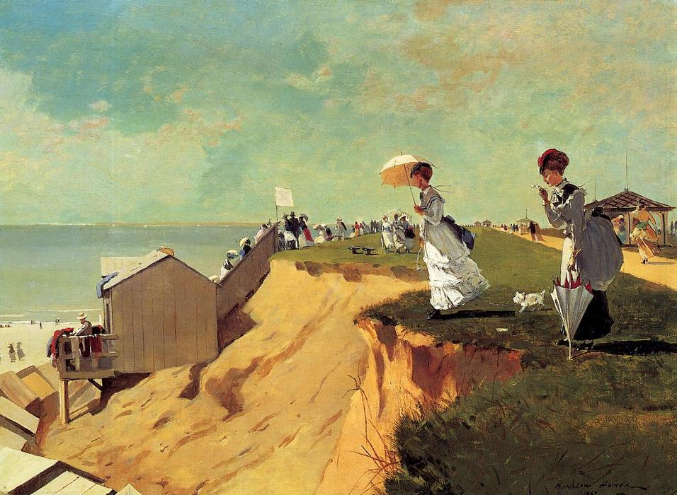 Long Branch, New Jersey, huile sur toile de Winslow Homer (1836-1910, United States)