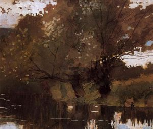 Winslow Homer - Pond et Willows, Houghton Farm