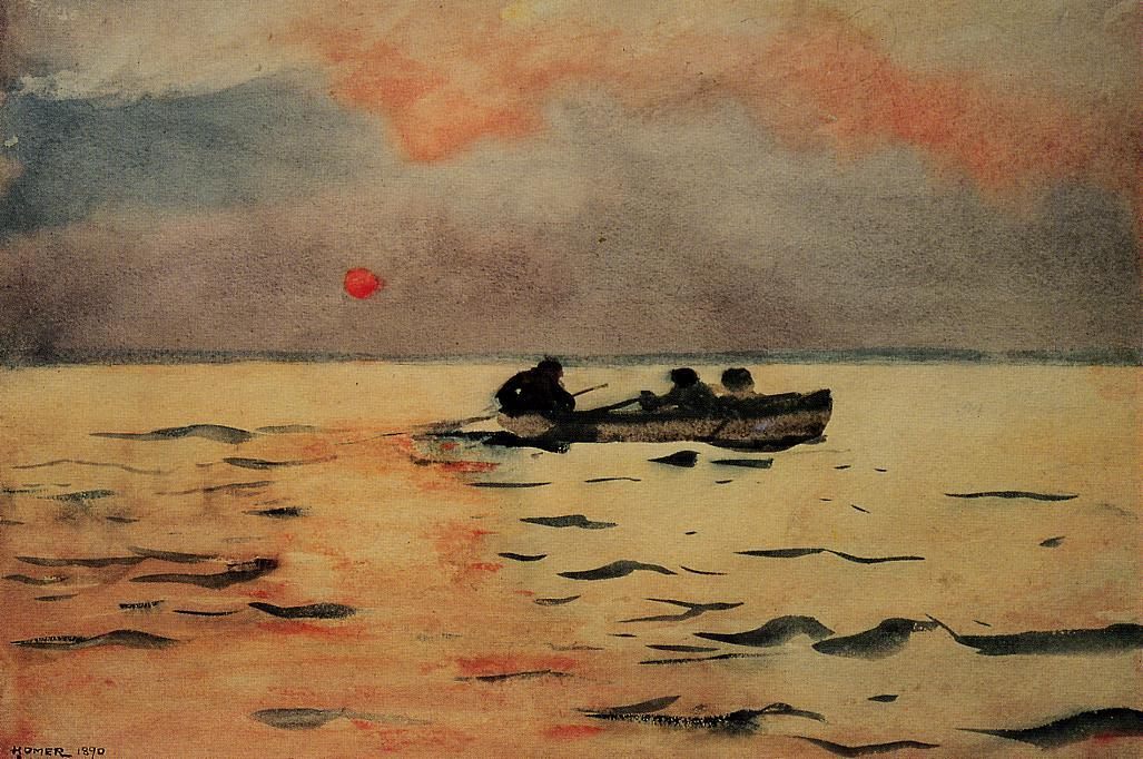 Aviron Accueil, 1890 de Winslow Homer (1836-1910, United States) | Reproductions D'œuvres D'art Winslow Homer | WahooArt.com