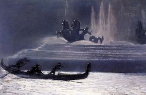 Winslow Homer - Les Fontaines Nuit Columbian Exposition mondiale