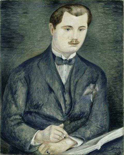 Portrait de Paul Guillaume, huile de André Derain (1880-1954, France)
