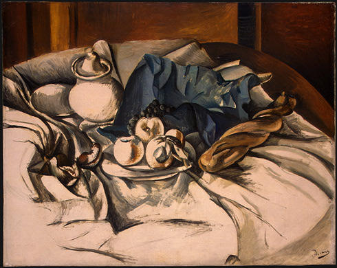 nature morte 1, huile de André Derain (1880-1954, France)