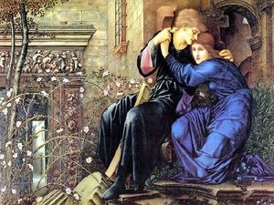 Edward Coley Burne-Jones - amour parmi les ruines