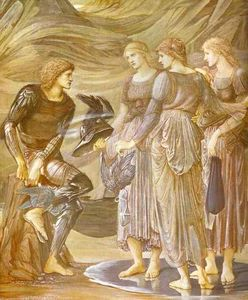 Edward Coley Burne-Jones - L armement de Persée 1