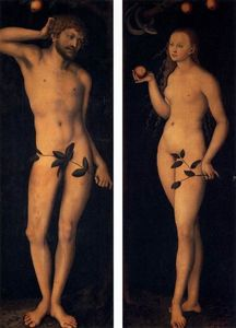 Lucas Cranach The Elder - eve et adam