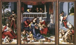 Lucas Cranach The Elder - retable de l' sainte famille