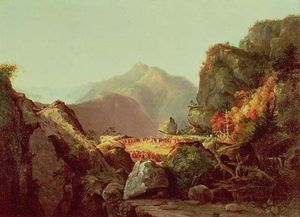 Thomas Cole - Scène de The Last of the Mohicans